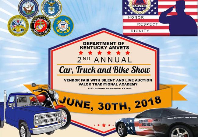 Kentucky AMVETS hosts 2nd Annual car, truck and bike show