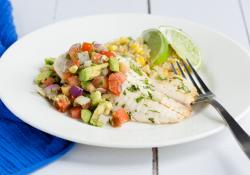 Skinny Mom: Cilantro Lime Tilapia with Avocado Pico de Gallo