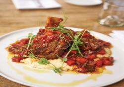 The Fat Lamb's Braised Lamb Shanks with Creamy Polenta