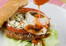 Recipe:Skinny Blue Cheese Stuffed Buffalo Burgers